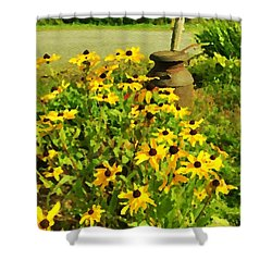 Impressions Of A Country Garden Shower Curtain