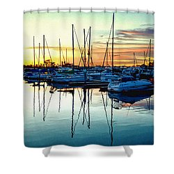 Shower Curtain featuring the photograph Impressions Of A San Diego Marina by Glenn McCarthy Art and Photography