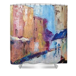 Impressions Of Monte Martre, Paris Shower Curtain