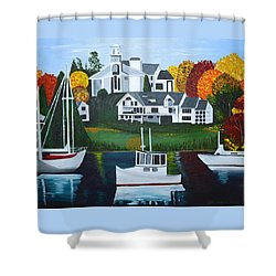 Impressions Of New England Two Shower Curtain