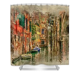 Impressions Of Venice Shower Curtain by Brian Tarr
