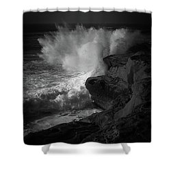 Impulse Shower Curtain by Ryan Weddle