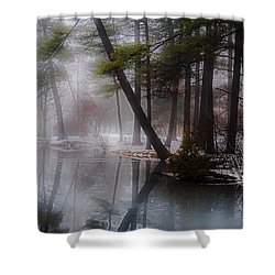 Shower Curtain featuring the photograph In A Fog by Kendall McKernon
