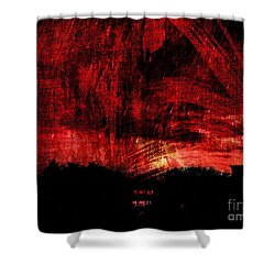 In A Red World Shower Curtain
