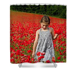 In A Sea Of Poppies Shower Curtain