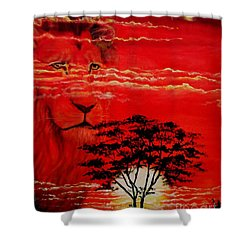 In An Arfican Sunset Shower Curtain