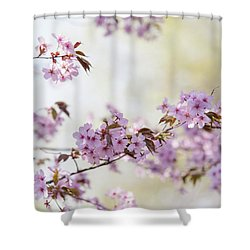 Shower Curtain featuring the photograph In Bloom. Spring Watercolors by Jenny Rainbow