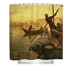 In Cairo Shower Curtain by Joseph Farquharson
