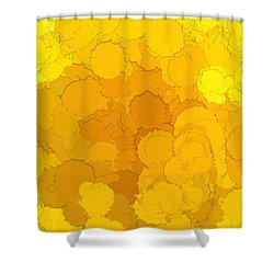 In Color Abstract 14 Shower Curtain by Cathy Anderson