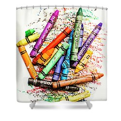 In Colours Of Broken Crayons Shower Curtain by Jorgo Photography - Wall Art Gallery