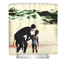 In Daddy's Arms Shower Curtain