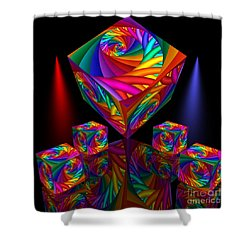 In Different Colors Thrown -8- Shower Curtain