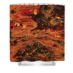 In Flames Shower Curtain