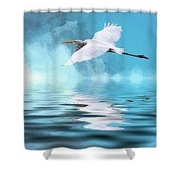 In Flight Shower Curtain by Cyndy Doty