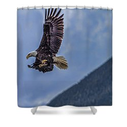 In Flight Lunch Shower Curtain by Timothy Latta