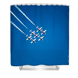 In Formation Shower Curtain