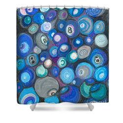 In Front Of The 8 Ball Shower Curtain by Ania M Milo