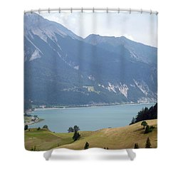 In Front Of The Lake Shower Curtain