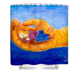 In God's Hand Shower Curtain
