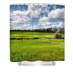 In Green Pastures Shower Curtain