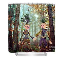Shower Curtain featuring the digital art In Harmony With Nature by Jutta Maria Pusl