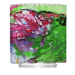 In Her Hands Shower Curtain