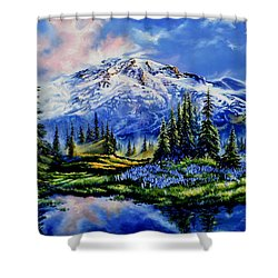 Shower Curtain featuring the painting In Joyful Harmony by Hanne Lore Koehler