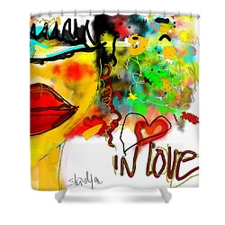 In Love  Shower Curtain by Sladjana Lazarevic