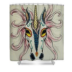 In Memory Of The Long Lost Unicorn Shower Curtain