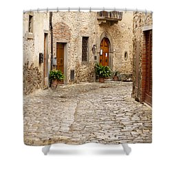 In Montefioralle Shower Curtain by Rae Tucker