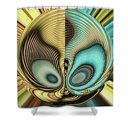 Shower Curtain featuring the digital art In My Head by Wendy J St Christopher