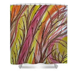 In Rushes Fall Shower Curtain