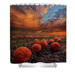 In Search Of The Great Pumpkin Shower Curtain by Phil Koch