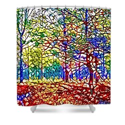 In Spite Off The Trees Shower Curtain