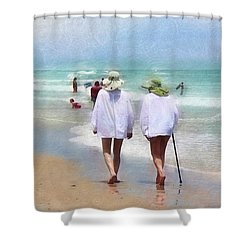 In Step With Life Shower Curtain