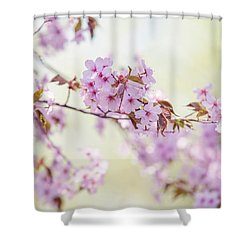 Shower Curtain featuring the photograph In Tender Bloom. Spring Watercolors by Jenny Rainbow