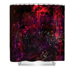 Shower Curtain featuring the digital art In The Ancients Chambers by Reed Novotny