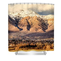 In The Arms Of Ben Lomond Shower Curtain