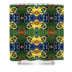Shower Curtain featuring the digital art In The Bag by Wendy Wilton
