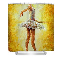 In The Ballet Class Shower Curtain by Leonid Afremov