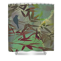 In The Bamboo Forest Shower Curtain by AugenWerk Susann Serfezi