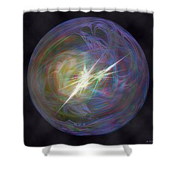 In The Beginning - Use Red-cyan 3d Glasses Shower Curtain by Brian Wallace