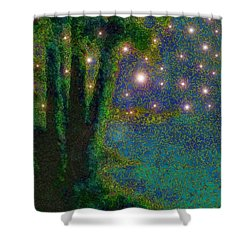 In The Beginning God... Shower Curtain