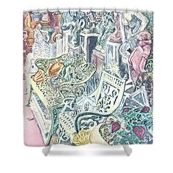 In The Cement Garden Shower Curtain by Vickie G Buccini