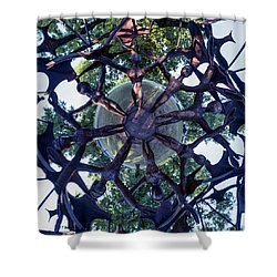 In The Center Of Seven Under Birds #1 - Tiny Planet Shower Curtain
