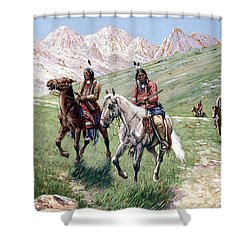 In The Cheyenne Country Shower Curtain by John Hauser