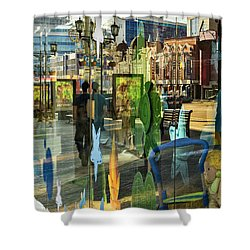 In The City Shower Curtain by Vladimir Kholostykh