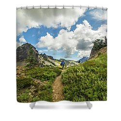 In The Clouds Shower Curtain