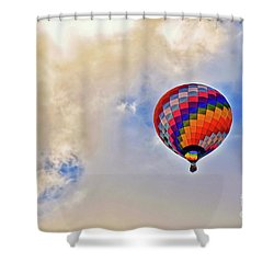 Shower Curtain featuring the photograph In The Clouds by Gina Savage