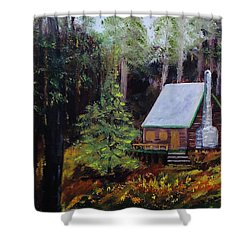In The Deep Woods Shower Curtain